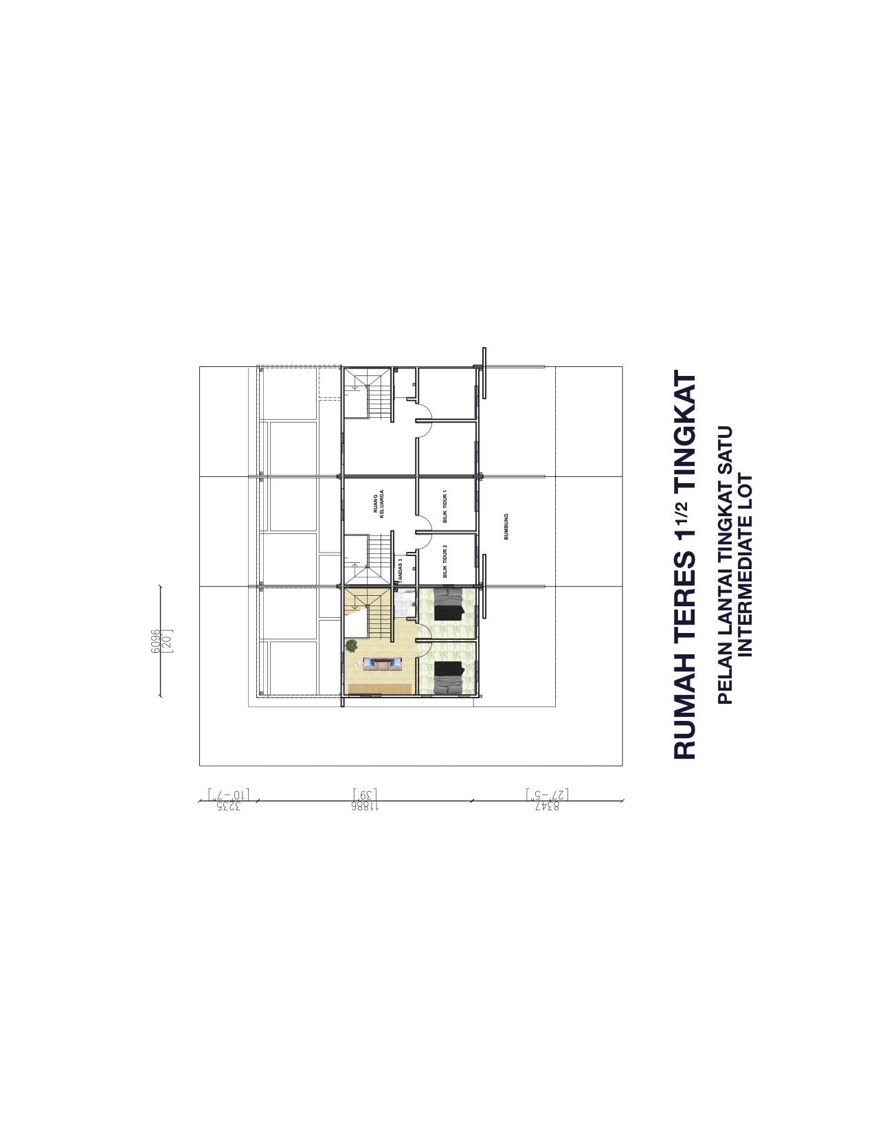 1.5 Storey Terrace First Floor