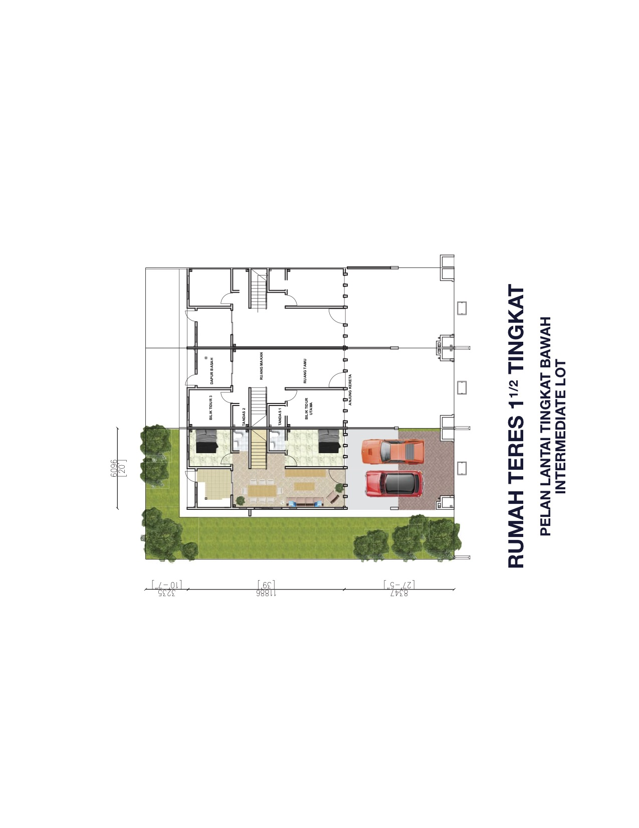 1.5 Storey Terrace Ground Floor