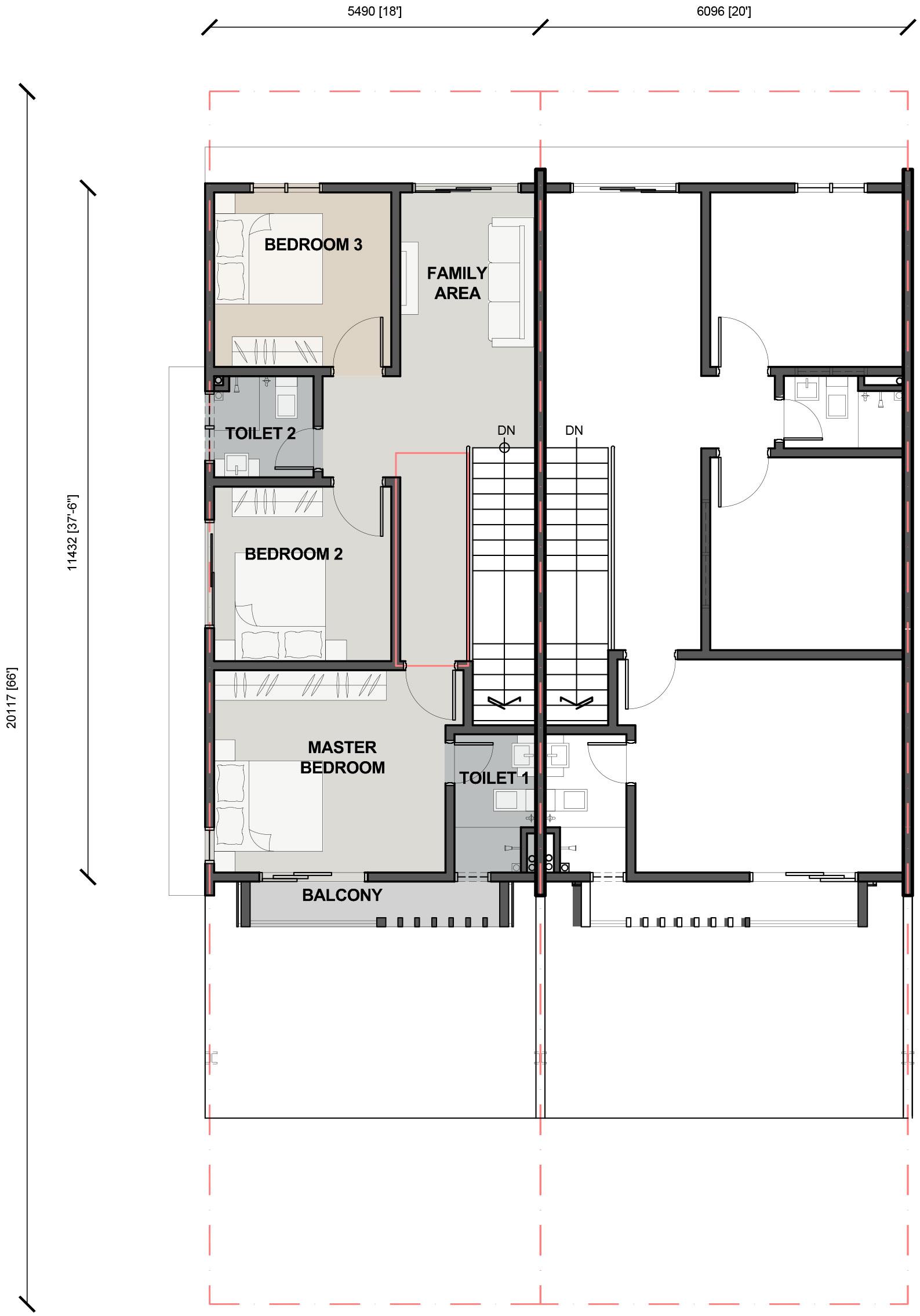 Double Storey Terrace - First Floor