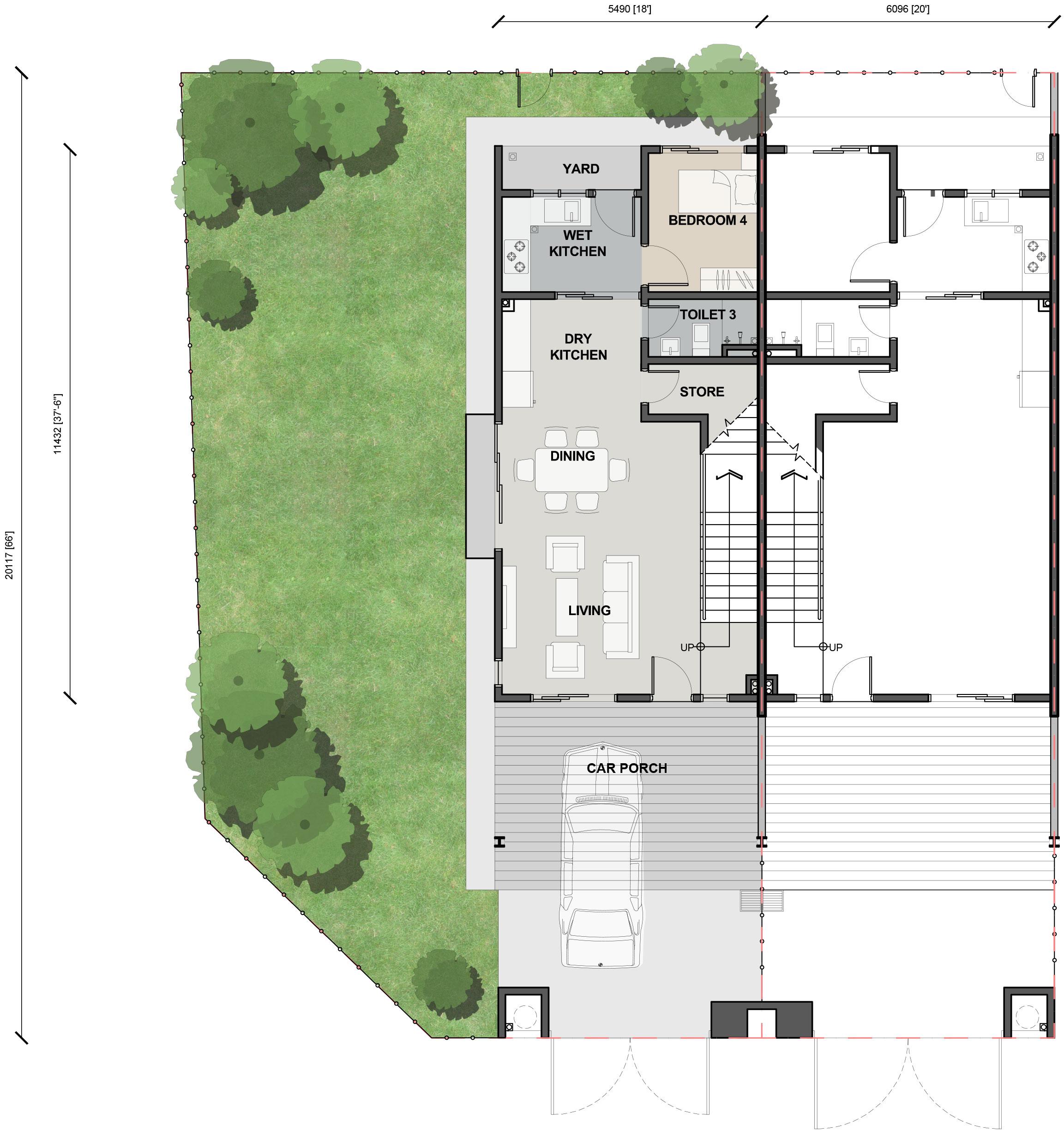 Double Storey Terrace - Ground Floor